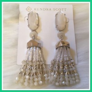 Kendra Scott Dove Tassel Earrings NWT - Ivory
